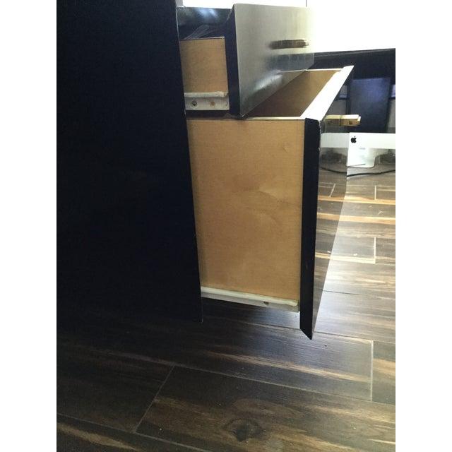 Burlwood Italian Burl Wood Desk For Sale - Image 7 of 11