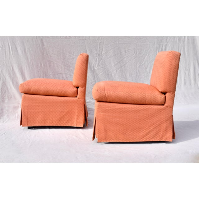 Billy Baldwin Billy Baldwin Slipper Chairs, Pair For Sale - Image 4 of 12