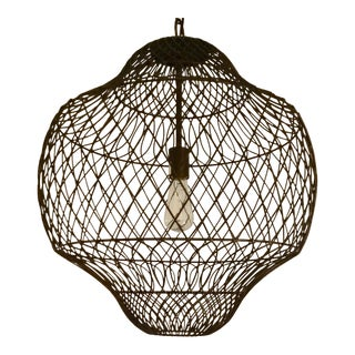 Currey & Co. Trellis Iron Pendant For Sale