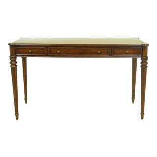 Ethan Allen 3 Drawer Cherry Small Writing Desk For Sale