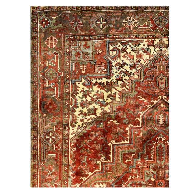 "Islamic Vintage Persian Heriz Rug - 6'9"" x 9'4"" For Sale - Image 3 of 4"
