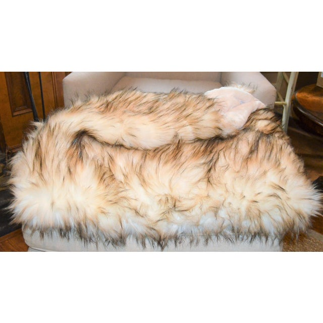 2010s Wild Mannered Faux Fur Bleached Finn Throw For Sale - Image 5 of 11