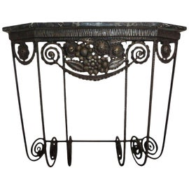 Image of Black Demi-lune Tables