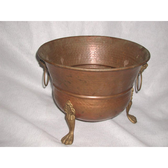 Brass Late 20th Century Vintage Copper Planter For Sale - Image 7 of 7