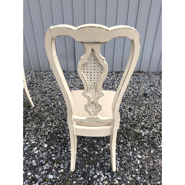 1960s Vintage Shabby Chic Dining Chairs -Set of 4 For Sale - Image 5 of 7