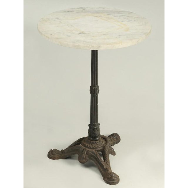French Bistro Table With Cast Iron Base For Sale - Image 11 of 11