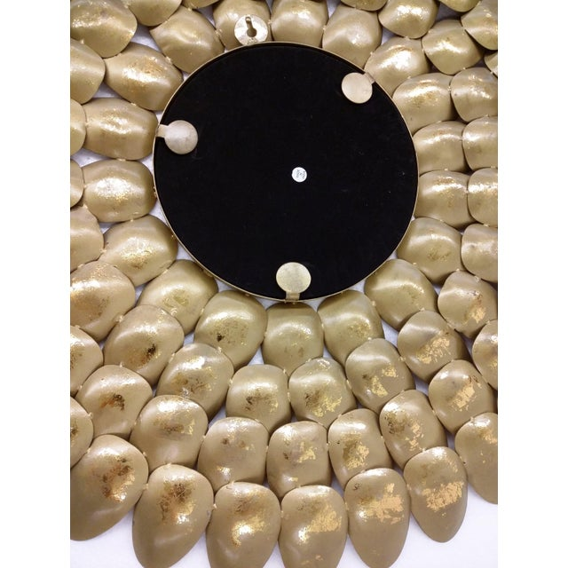 Gold Metal Sunburst-Style Mirror - Image 8 of 9
