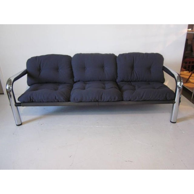 Chrome John Mascheroni Tubular Chrome Sling Sofa For Sale - Image 7 of 7