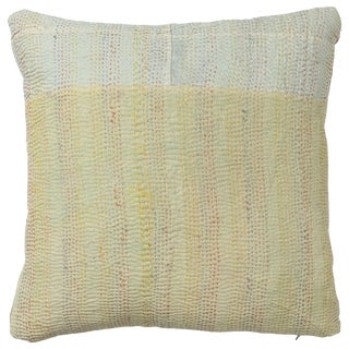 Kantha Quilt Pillow For Sale