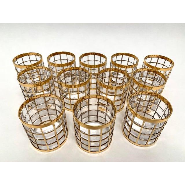Hollywood Regency Imperial Glass Toril De Oro Rocks Cocktail Glasses - Set of 12 For Sale - Image 3 of 12