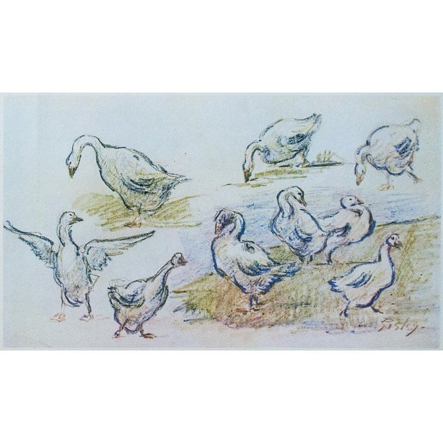 1959 Lithograph of Geese by Alfred Sisley For Sale - Image 9 of 11