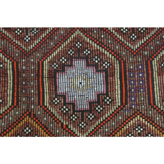 "Vintage Turkish Kilim Rug-7'6'x9'6"" For Sale - Image 9 of 13"