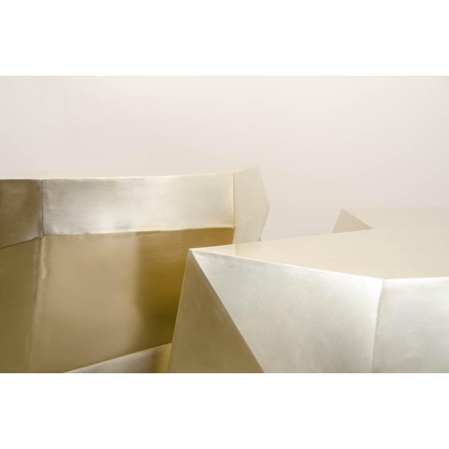 2010s Puzzle Facet Cocktail Table - Brass For Sale - Image 5 of 8