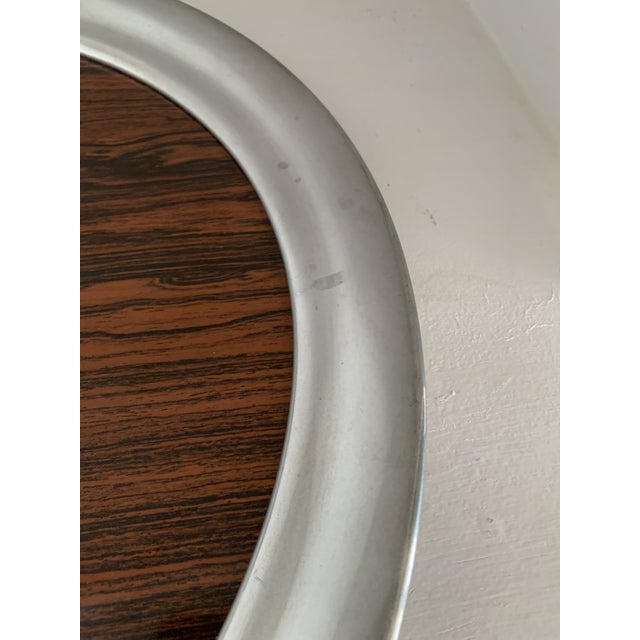 Mid 20th Century Mid 20th Century Vintage A. L. Hanle Pewter & Rosewood Formica Serving Tray For Sale - Image 5 of 8