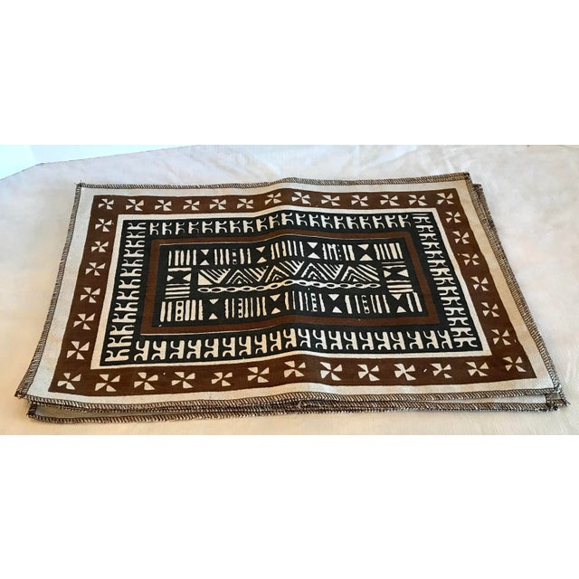 Tribal Vintage Tribal Pattern Linen Placemats - Set of 6 For Sale - Image 3 of 5