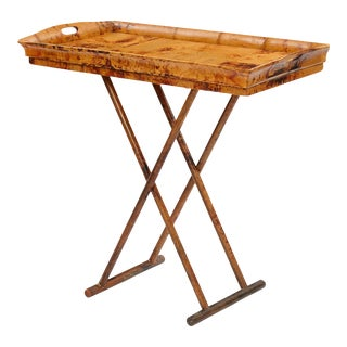 Butler / Coffee Table, Brown, Rattan For Sale