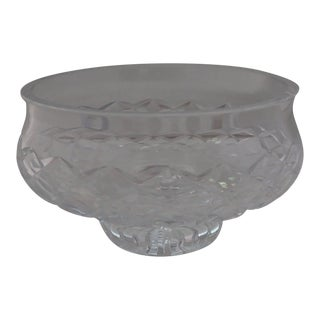 Waterford Crystal Cut Glass Footed Bowl For Sale