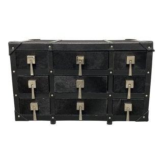 Arteriors Black Hide Chest + Compartment For Sale