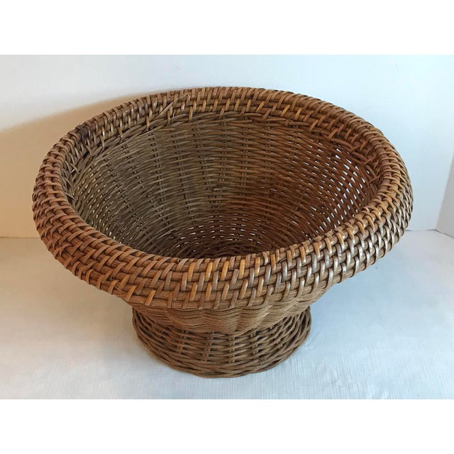 Nice heavy wicker planter or bowl. Lots of uses!