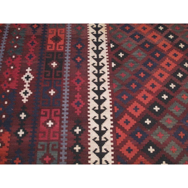 Large Afghan, Uzbek Kilim For Sale In New York - Image 6 of 6