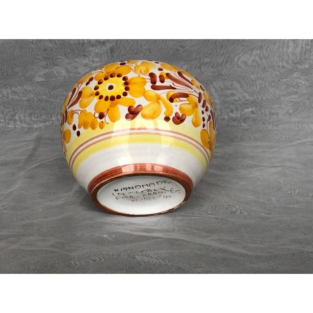 Goldenrod Vintage Italian Ceramic Pottery Indoor Planter For Sale - Image 8 of 13