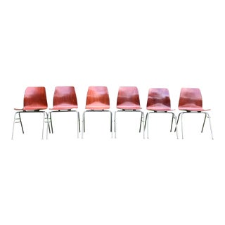 Pagholz Mid Century Stacking Chairs - Set of 6 For Sale