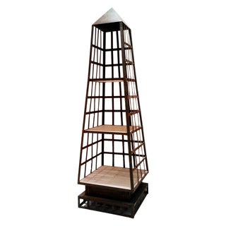 Three-Tier Obelisk Shelf Unit For Sale