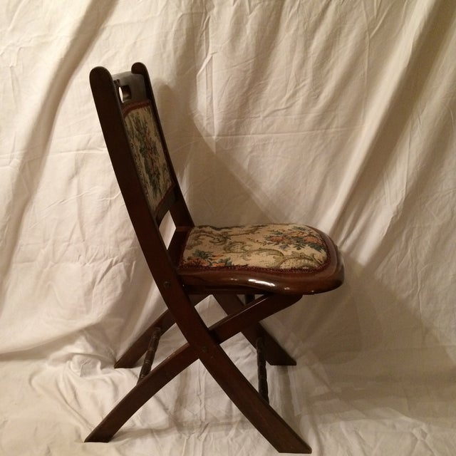 Vintage Victorian Style Campaign Parlor Chairs - Set of 4 - Image 3 of 11