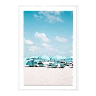 Miami II by Natalie Obradovich in White Framed Paper, Medium Art Print For Sale