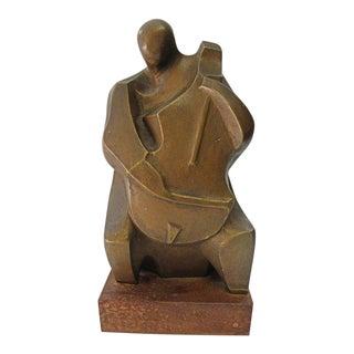 Vintage Mid Century Contemporary Sculpture Cellist by Irving Amen 1/20 For Sale
