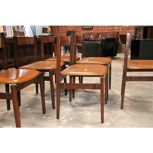 Traditional Six Gianfranco Frattini Chairs For Sale - Image 3 of 11