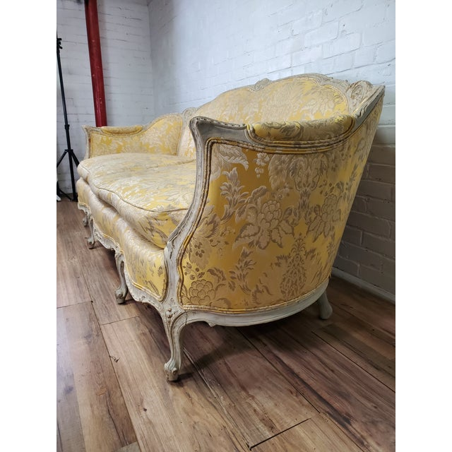 1930s 1930s Antique Victorian French Louis XV Style Couch For Sale - Image 5 of 13