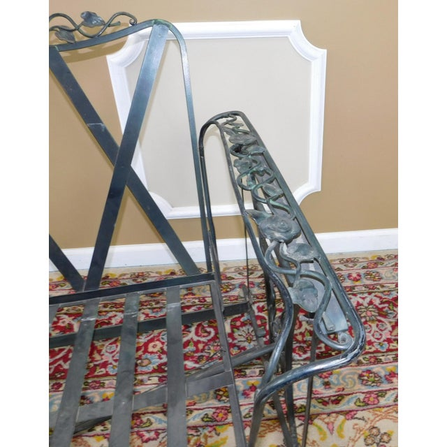 Vintage Lee Woodard & Sons Wrought Iron Glider Sofa For Sale - Image 10 of 11