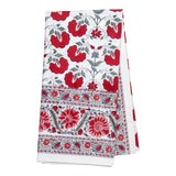 Image of Janvi Tablecloth, 6-seat table - Red For Sale