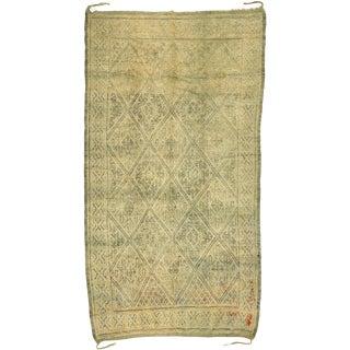 Vintage Beni M'Guild Moroccan Rug -6′3″ × 11′3″ For Sale