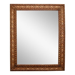 Large Belgian Carved Gilt Wood Mirror For Sale
