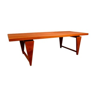 1960s Vintage Illum Wikkelso Danish Mid-Century Modern Teak Coffee Table For Sale
