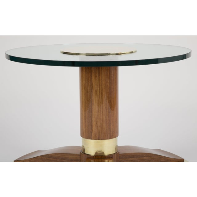 Jules Leleu Mahogany, Bronze and Glass Coffee Table For Sale - Image 10 of 13