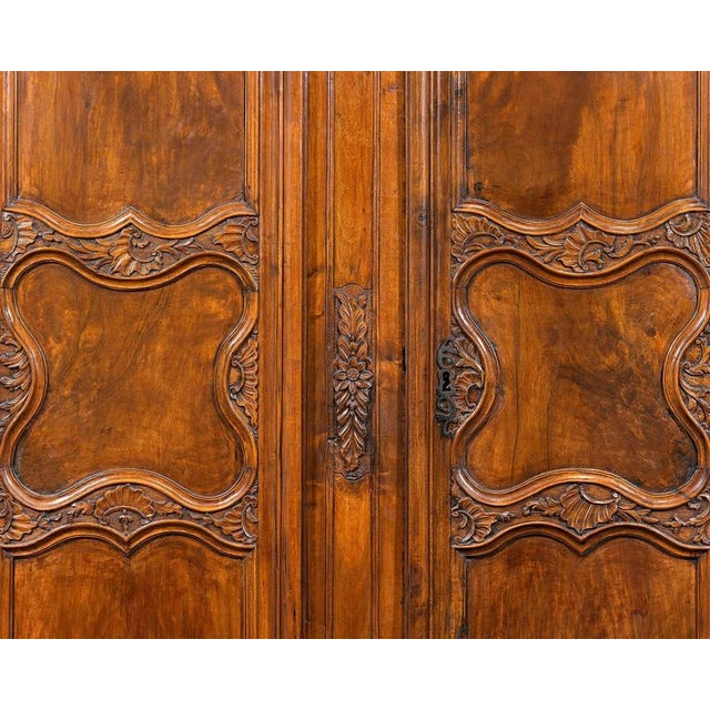 French Provincial French Provincial Double Door Armoire For Sale - Image 3 of 9