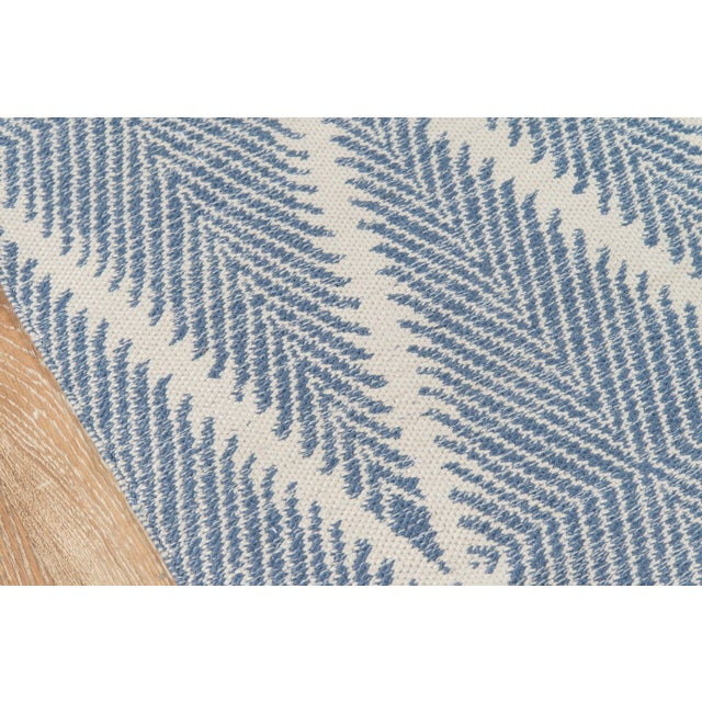 """Contemporary Erin Gates by Momeni River Beacon Denim Indoor Outdoor Hand Woven Area Rug - 5' X 7'6"""" For Sale - Image 3 of 7"""