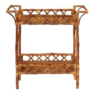 Beverage Stand, Brown, Rattan For Sale