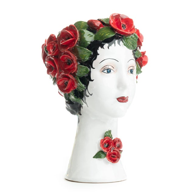 Sculpture with Roses, Ceramiche D'arte Dolfi For Sale - Image 4 of 12