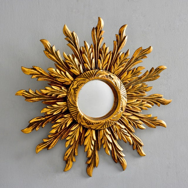 Double Layer Giltwood Sunburst Mirror For Sale - Image 11 of 11