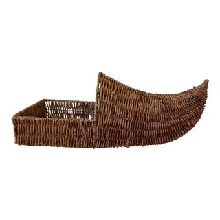 1920s Vintage Dutch Shoe Basket For Sale