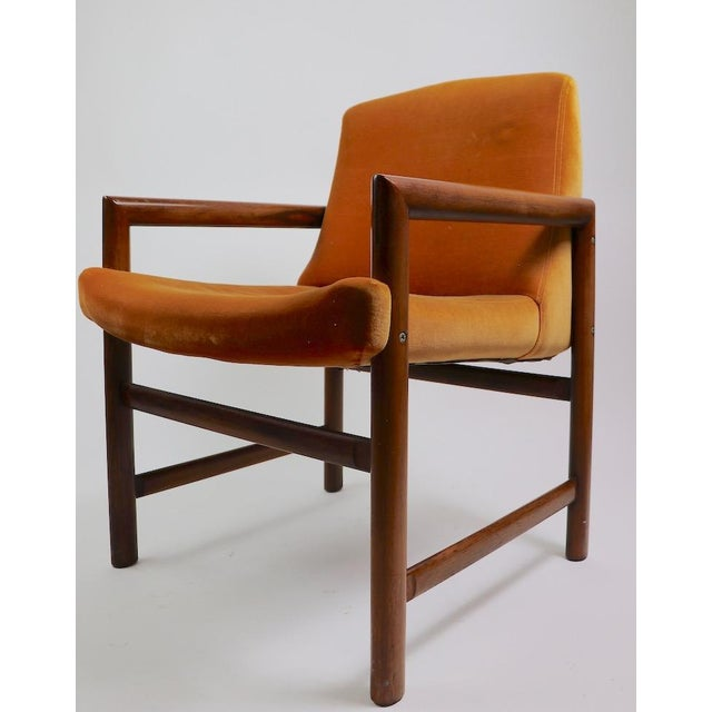 Set of 6 Rosewood Frame Dining Chairs by Baughman For Sale - Image 9 of 13