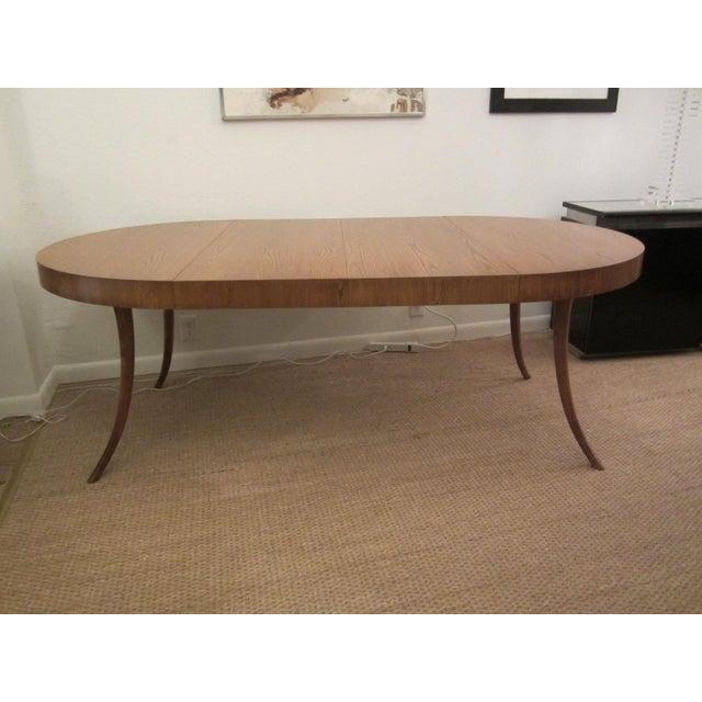 Mid-Century Modern Robsjohn-Gibbings Walnut Extension Dining Table For Sale - Image 3 of 7