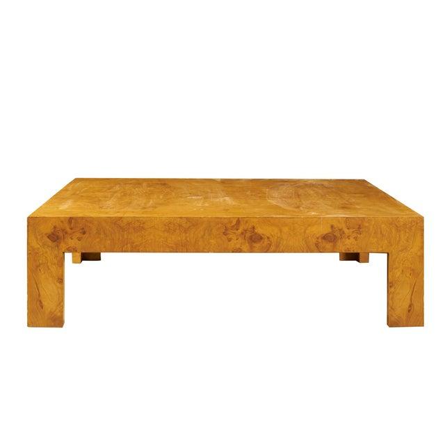 Mid-Century Modern Monumental Milo Baughman Burlwood Coffee Table For Sale - Image 3 of 10