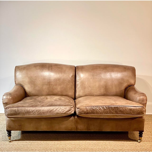 George Smith Leather Sofa For Sale - Image 12 of 12