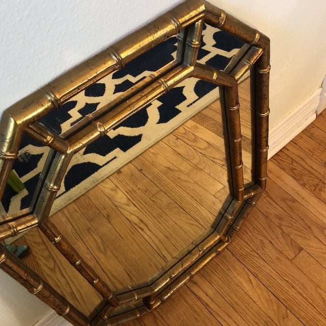 Faux Bamboo Octagon Mirror For Sale - Image 6 of 8