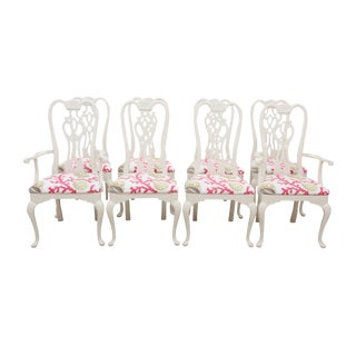 Thomasville Queen Anne Chairs - Set of 8 For Sale